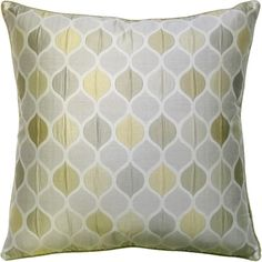 Very Pretty Diamond Pattern Decorative Pillow in Light Green and Gray.  Free shipping!