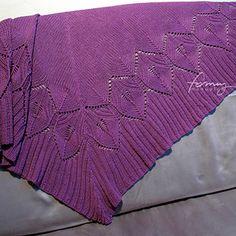 Free! - Ravelry: winter leaves shawl pattern by Anna Szymanowska