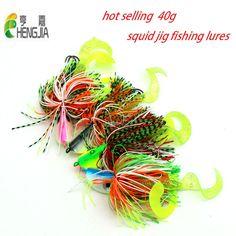 2pcs 40g mixed big metal lead head jigs fishing lures soft fishing baits buzzbaits octopus squid hooks sea pesca fishing tackles