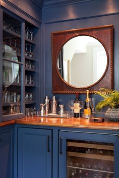 Pretty bar - Kate Coughlin Interiors