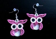 quilling earrings 24 - owls