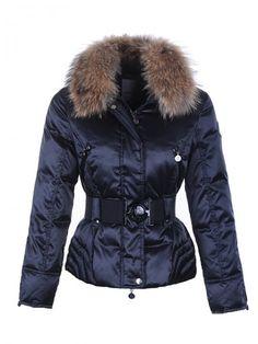 Vendre Pas cher Doudoune moncler femme col de fourrure bleu Moncler Jacket  Women, Fur Collar 06ecffec0e5