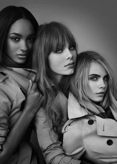 Jourdan Dunn, Edie Campbell & Cara Delevingne For Burberry Beauty ...