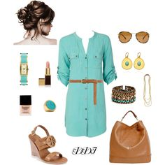 Turquoise Shirt Dress, Tory Burch, Mulberry, Kate Spade, Michael Kors