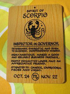 VTG 1970s Retro Horoscope Zodiac Horoscope Sign Wooden NOS Wall Art SCORPIO