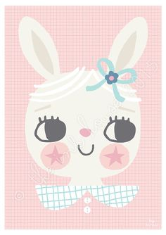 BUNNY PRINT Illustration by The Ink House | Liz Alpass