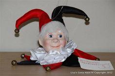 "Dept 56 ""JINGLES THE JESTER"" Cloth Resin Jingle Bells Christmas Ornament NEW"