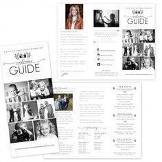 Portrait Session Brochure Template by Jamie Schultz Designs