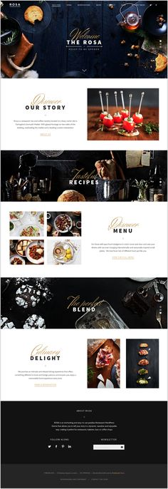 Rosa, beautiful WP parallax theme