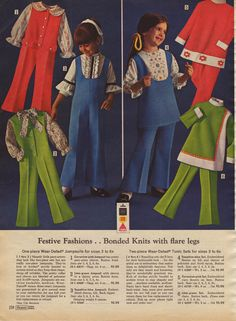 vintage 1960s girl's pantsuits from sears