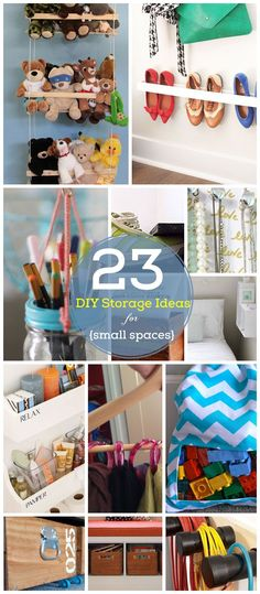 23 DIY Storage Ideas for Small Spaces - Click for Tutorials - DIY Organization Ideas for the Home