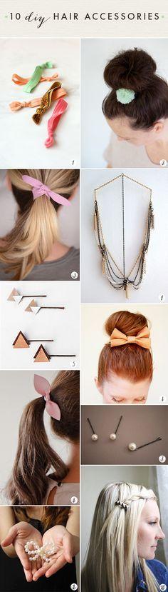10 DIY hair accessor
