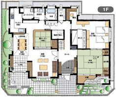 2 Bed House, Feng Shui, Craftsman Floor Plans, Japanese House, House Plans, New Homes, Layout, House Design, Flooring
