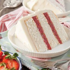 Lane Cake Recipe - Taste of the South Magazine - a strawberry version just in time for Easter