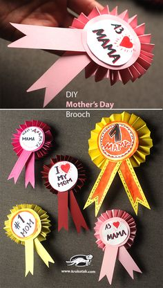 DIY Mothers Day Badge. For more DIY inspiration go to www.themakerscollective.com.au