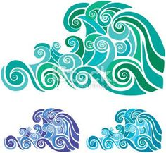 waves stencil - Google Search