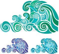 waves stencil - Google Search