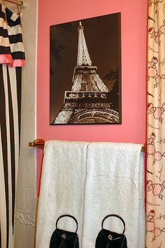 teens paris themed bathroom. Black Bedroom Furniture Sets. Home Design Ideas