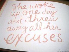 she woke up one day ....