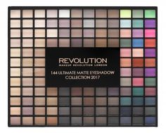 Makeup Revolution paletka očných tieňov - Revolution Ultimate Eyeshadow Collection 2017 - the matte edition (144 Eyeshadow Palette) - PinkPanda.sk