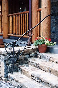 Outdoor Hand Railings | Home > Hand Forged Products > Outdoor Railings > Tree Branch Rail