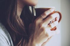 "ciluss: "" Enjoy the silence. (by anne. Coffee Drinks, Coffee Cups, Tea Cups, Coffee Love, Coffee Shop, Coffee Corner, Morning Hair, Enjoy The Silence, Morning Coffee"