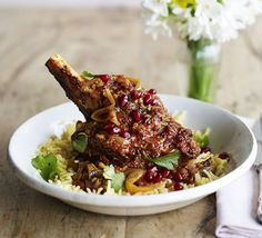 All-in-one posh lamb balti. Feed a crowd with this gorgeous slow-cooked curry made from tender lamb shanks