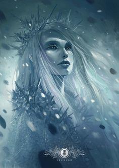 Dark Faeries: Ice queen Art print of Ice queen is available on my new shop Website Fantasy Magic, Fantasy World, Dark Fantasy, Fantasy Art, Fantasy Makeup, Gothic Makeup, Snow Queen, Ice Queen, Dnd Characters
