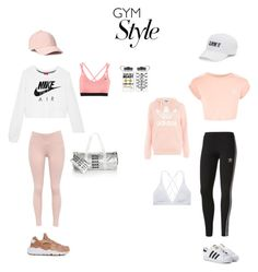 """Workout Outfits "" by monce101 on Polyvore featuring NIKE, Celebrate Shop, adidas, Topshop, adidas Originals, SO and Victoria Sport"