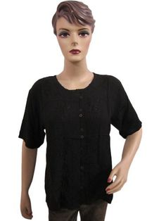 Boho Top Black Blouse Floral Embroidered Tunic Bollywood Fashion Shirt Small Size Mogul Interior, http://www.amazon.com/dp/B00A0HFJFO/ref=cm_sw_r_pi_dp_8JwNqb19KFH9B