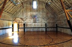 Basketball court in a barn...this would be my favorite place ever. You could probably never pull me out of here.
