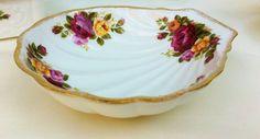 Cottage Rose Shell Trinket Dish. by LavenderRoseCottage on Etsy
