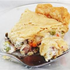 Dad's Leftover Turkey Pot Pie   You'll be glad you have all those leftovers when you taste this great pot pie.