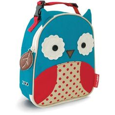 Skip Hop Zoo Lunchie Insulated Lunch Bag, Owl (€14) ❤ liked on Polyvore featuring home, kitchen & dining, food storage containers, owl, skip hop, lunch bags, colored lunch bags, lunch sack and owl lunch bag