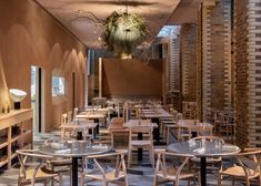British designer Terence Conran has opened London restaurant Wilder, where a menu of foraged food is complemented by an interior by Kirkwood McCarthy