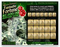Scratch Off Game $2,500.00 Fantastic Fortune