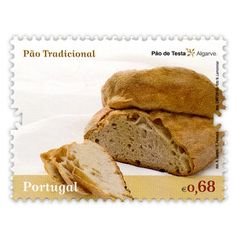 Portugal - 2010 - Portuguese gastronomy - Testa Bread from Algarve Algarve, Portugal, Portuguese Bread, Rustic Bread, Types Of Bread, Food Stamps, Stamp Collecting, Postage Stamps, Food And Drink