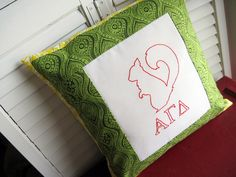 Alpha Gamma Delta Squirrels <3333  custom pillow by shannonemiller, via Flickr