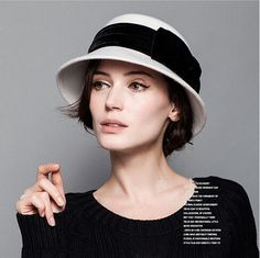 Image result for woman with hat cloche