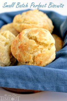 Small Batch Perfect Biscuits on MyRecipeMagic.com Our weekends just aren't complete without biscuits. This easy Small Batch Perfect Biscuits recipe yields six perfect biscuits without the use of buttermilk.  Breakfast accomplished.