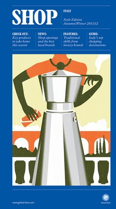 SHOP Italy cover illustration by Neil Webb, Prints for - all profits will go to Kids Company, a London-based charity I Love Coffee, Coffee Break, My Coffee, Coffee Girl, Gig Poster, Print Poster, Italian Posters, Coffee Illustration, Fun Illustration
