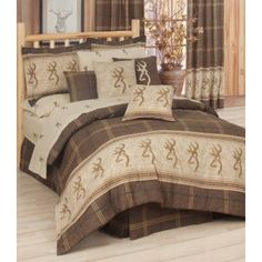 Browning Buckmark Comforter Set | Cabin and Lodge Bedding | Hunting Decor | Antlers Etc - Rustic Cabin, Lodge & Hunting Decor
