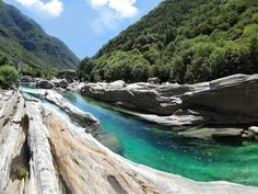 Risultati immagini per valle verzasca ticino Canton Ticino, Green Landscape, Trees To Plant, Fresh Water, Scenery, Places To Visit, Images, Nature, Switzerland
