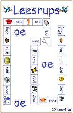 Dubbelklanken oe - Digibord Onderbouw Dutch Language, Book Letters, Shared Folder, Primary School, Classroom Management, Phonics, Spelling, Literacy, Homeschool