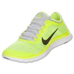 Women's Nike Free 3.0 v5 Running Shoes| FinishLine.com | Volt/Anthracite/Pure Platinum/White