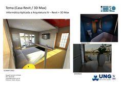 Casa com três cômodos,  Quarto Casal, Banheiro e Varanda, fiz ela como o professor Andre Sbrana aviada pedido no Revit passei para o 3D Max para fazer as ultimas alterações e renderizar para finalizar e fazer as Imagens acima matéria de Informatica Aplicada a Arquitetura e Urbanismo IV em 2016