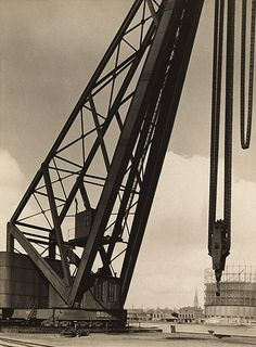 Albert Renger-Patzsch. 'Harbour with crane' c.1927