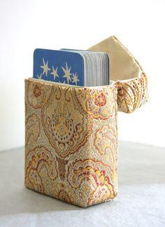Arcana Case handmade tarot bag in Solar Gold Brocade