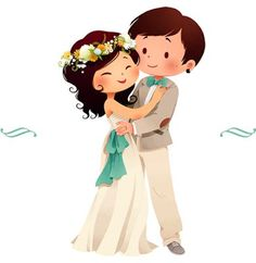 Couple just married, newly married, wedding cards, wedding invitation cards Wedding Art, Wedding Pics, Wedding Couples, Trendy Wedding, Wedding Illustration, Couple Illustration, Wedding Couple Cartoon, Couple Clipart, Just Married