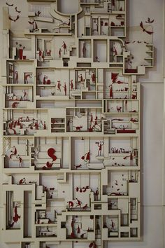 From the Shenzhen Bi-City Biennale of Urbanism and Architecture -Low Relief Section Model